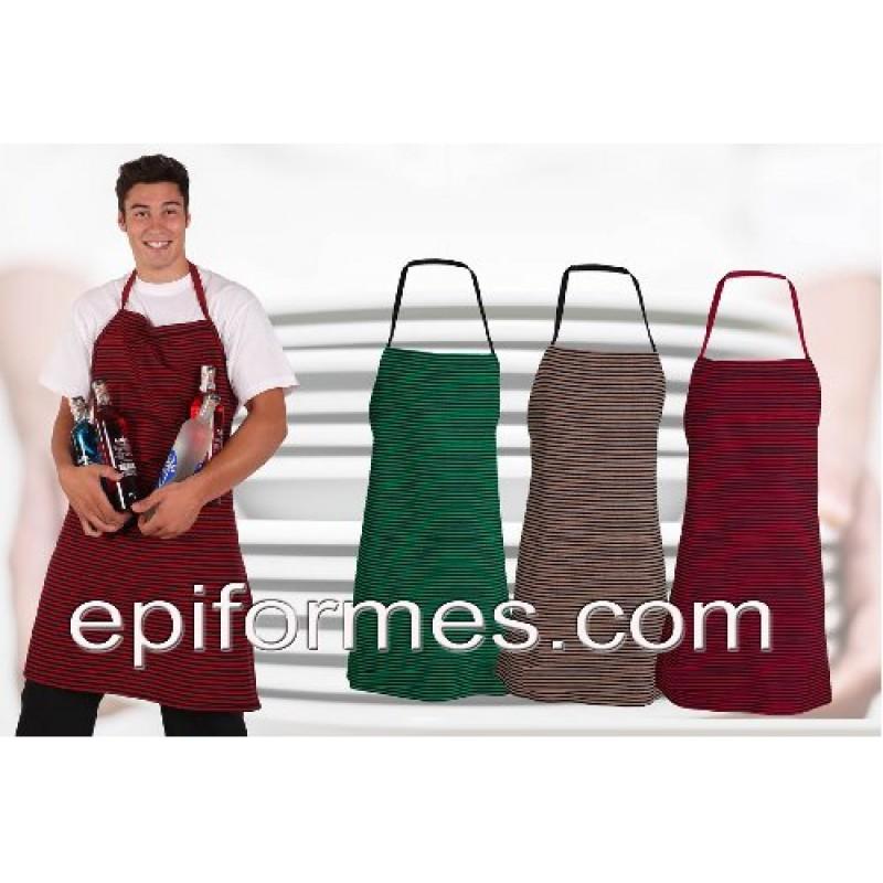 Delantal mercado rayas 3 colores