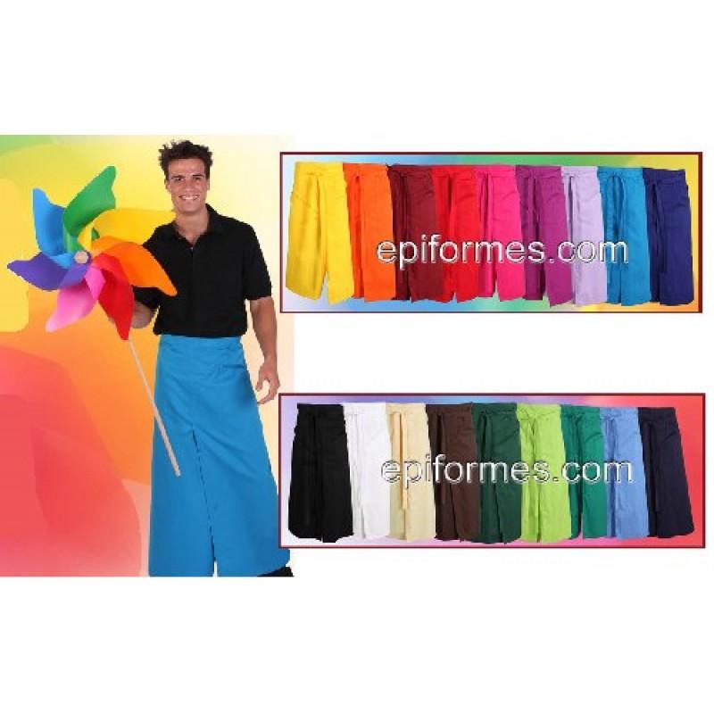 Delantal Frances Abierto 24 colores