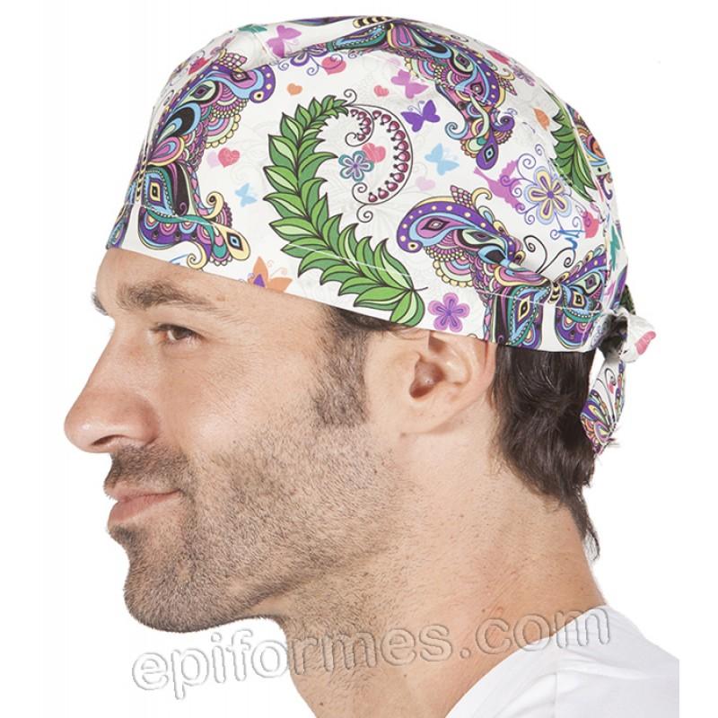 Gorro cirujano hippie pelo corto