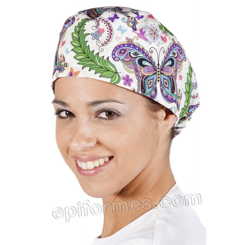 Gorro cirujano hippie pelo largo