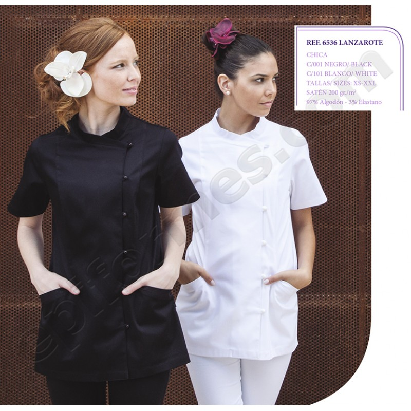 Blusa señora Lanzarote en blanca o negra