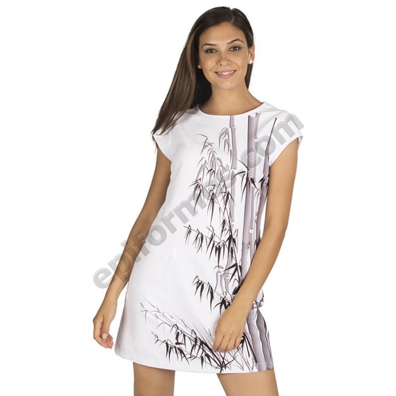 Vestido señora Creta estampado