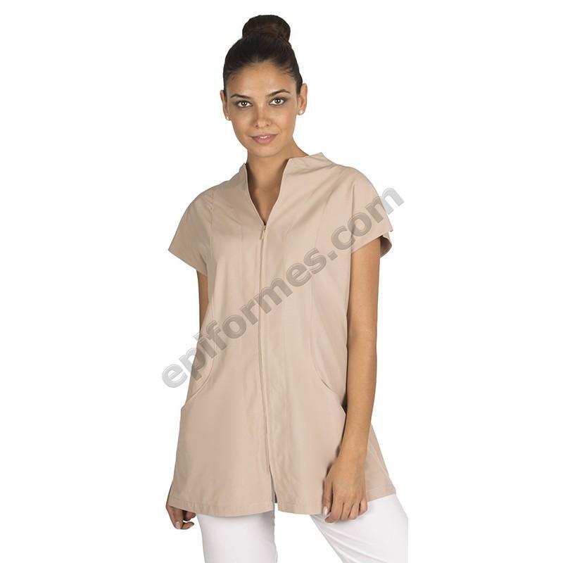 Blusa señora Córcega en blanco o arena