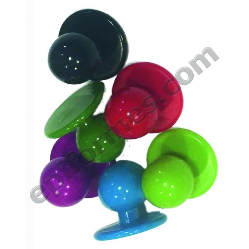 10 Botones de chupete en 18 colores