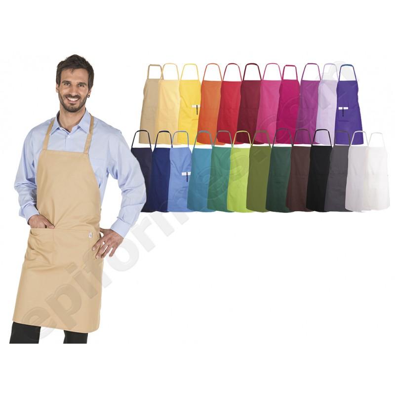 Delantal peto+bolsillo 24 colores