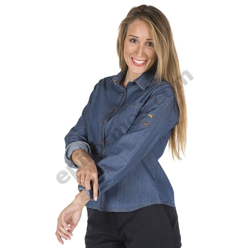 Camisa vaquera lavada de chica