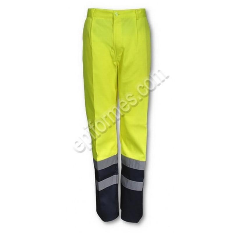 Pantalon  De Trabajo Bicolor De Alta Visibilidad