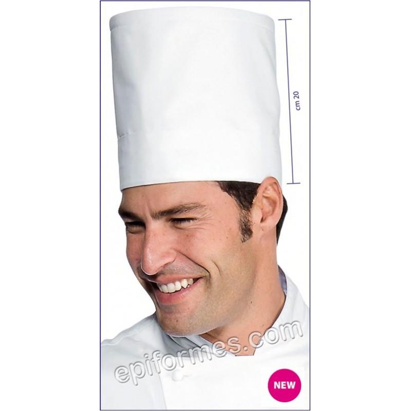 Gorro Cocina Tubular Elite Blanco
