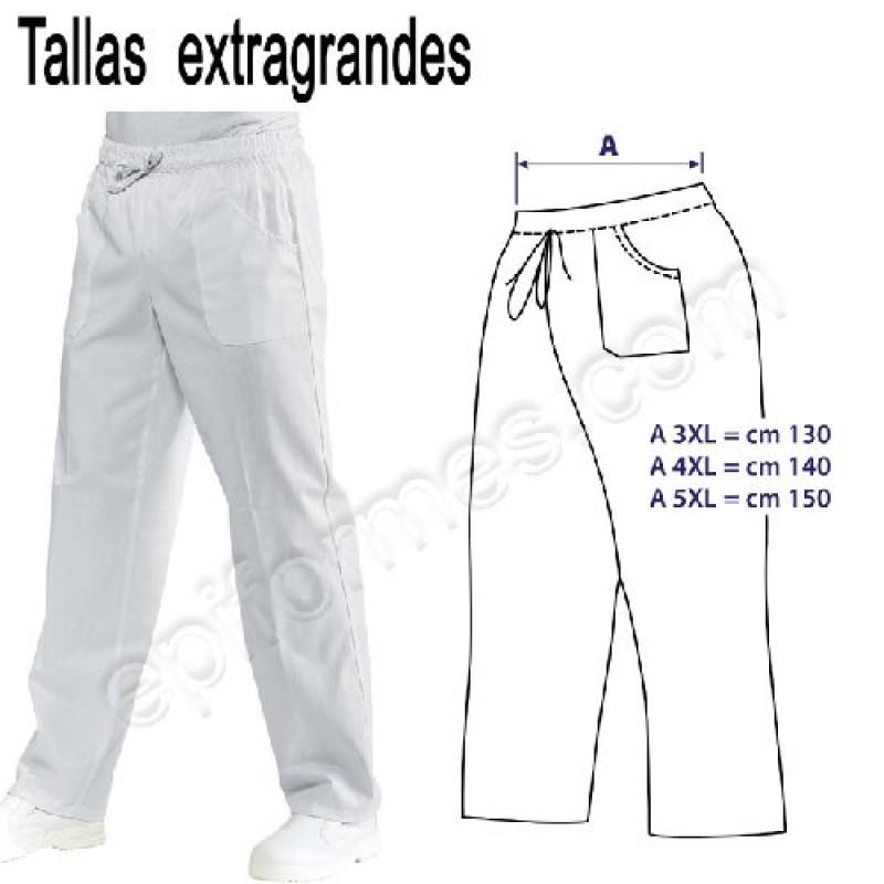 ab8a58f403e Pantalon Sanitario Extragrande Blanca