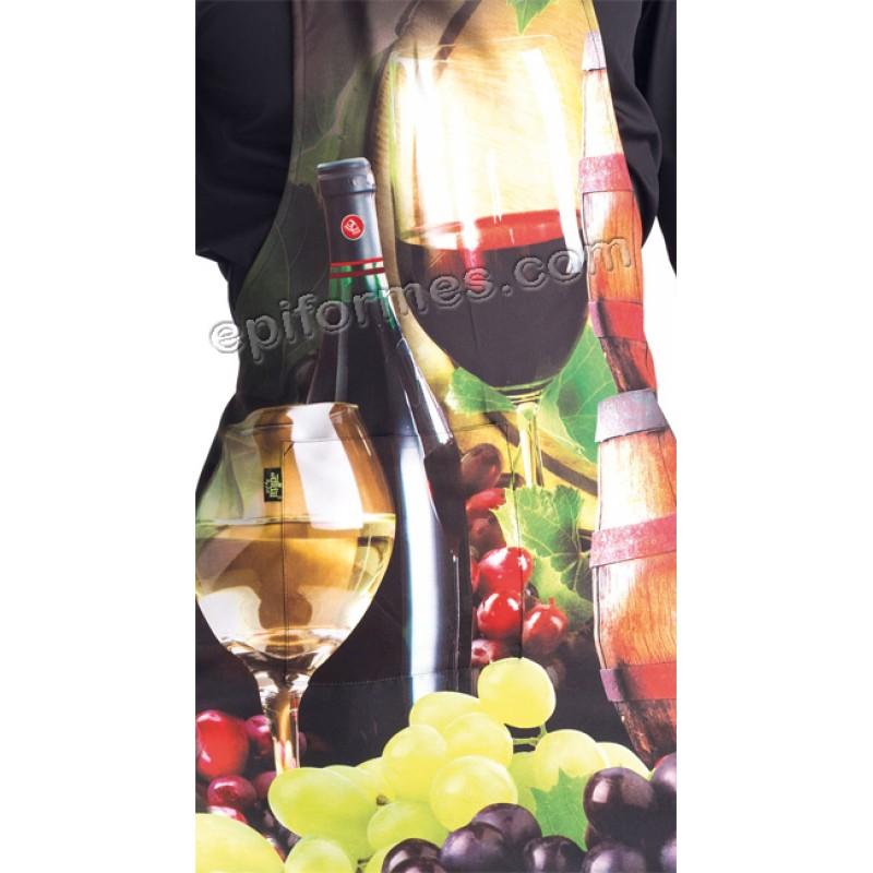 .Delantal vino