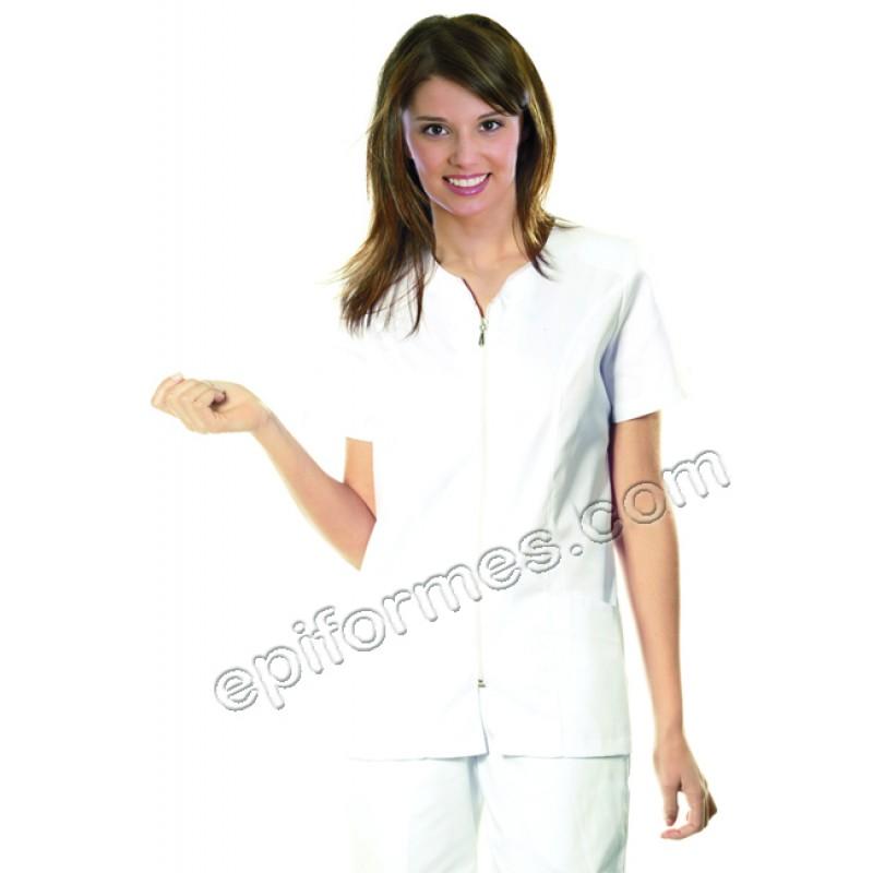 Casaca sanidad Blanca 3 bolsillos