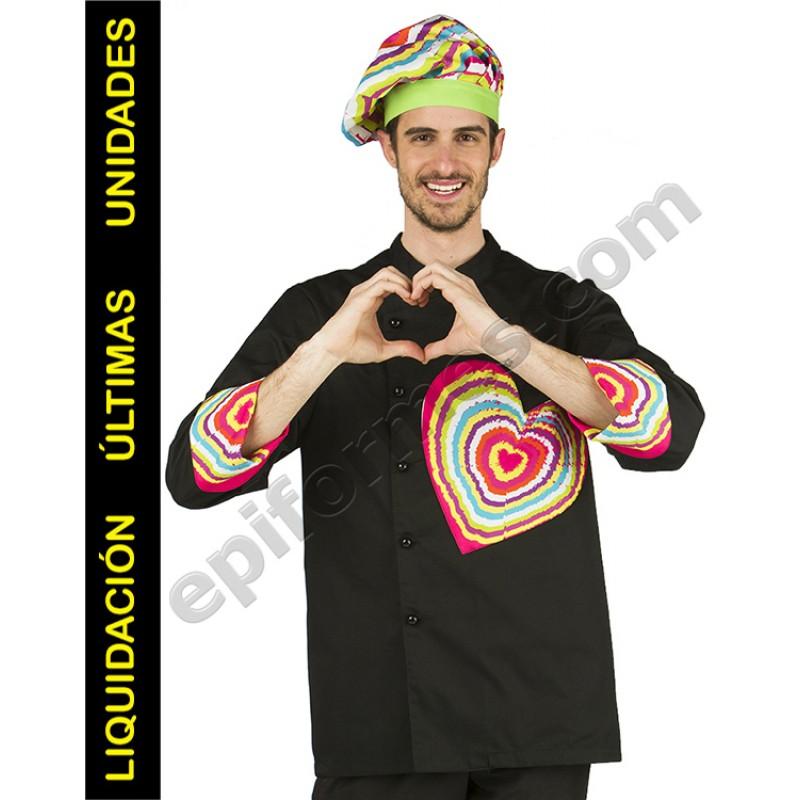 Chaqueta corazón multicolor