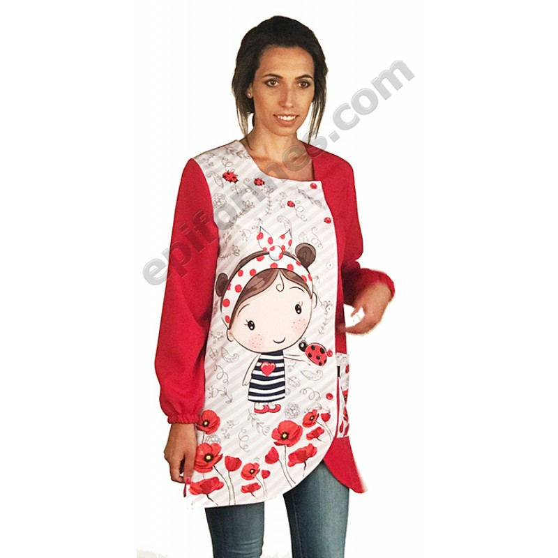 Bata niña amapola Roja
