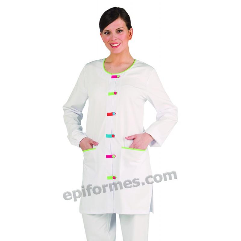 Bata maestra blanca Trabillas Colores