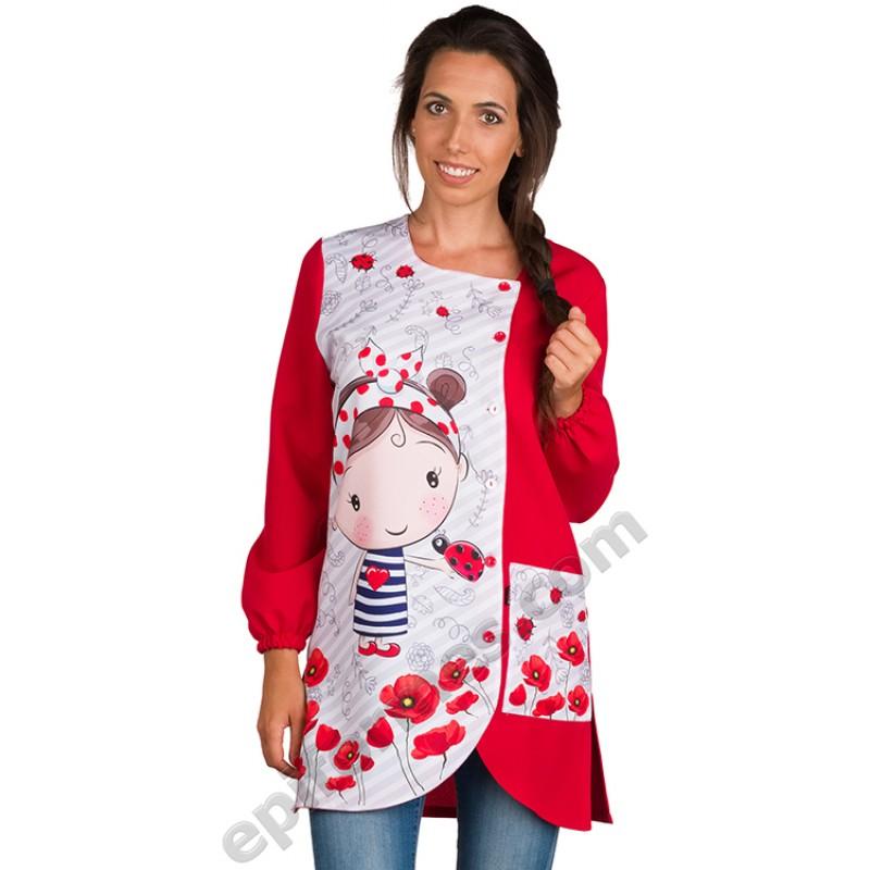 Babi maestra niña amapola Roja
