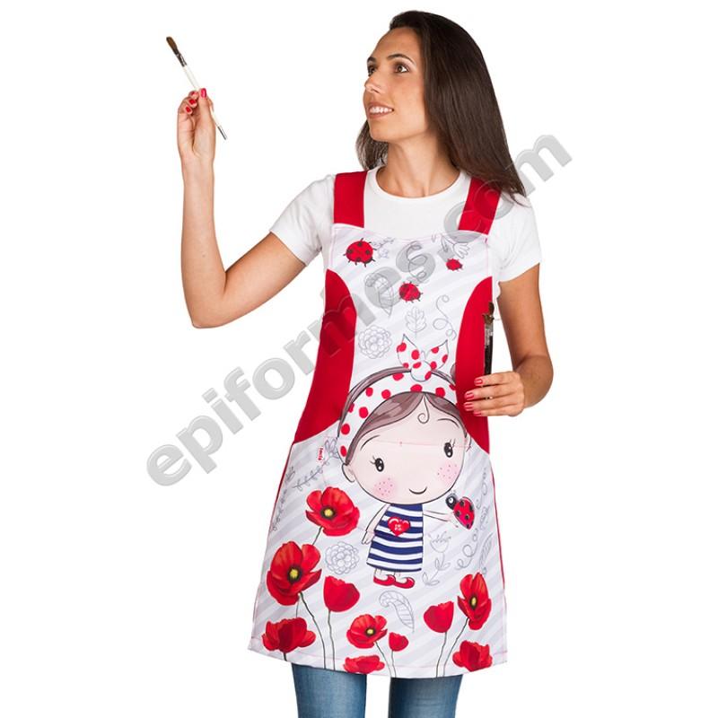 Pichi niña amapola roja