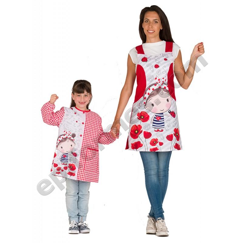 Pichi maestra niña amapola roja