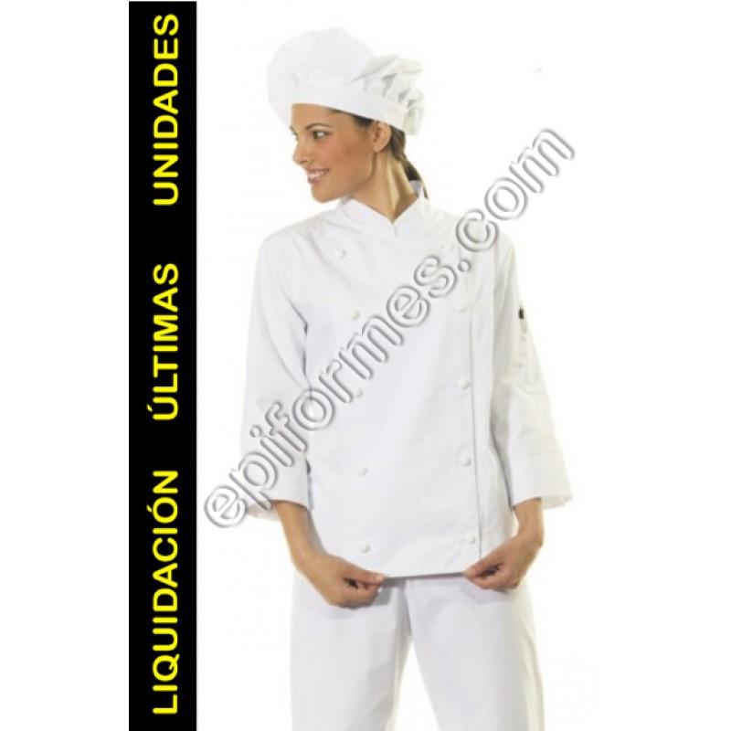 Chaqueta cocinera blanca