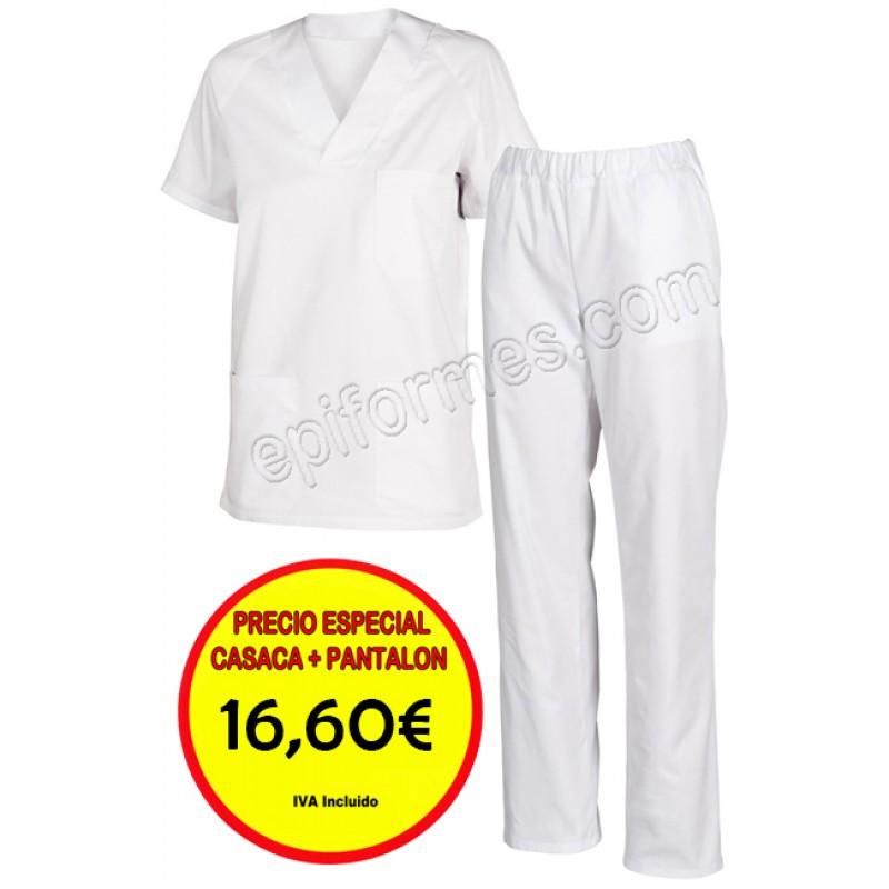 .Pijama Sanitario Blanco o celeste Completo