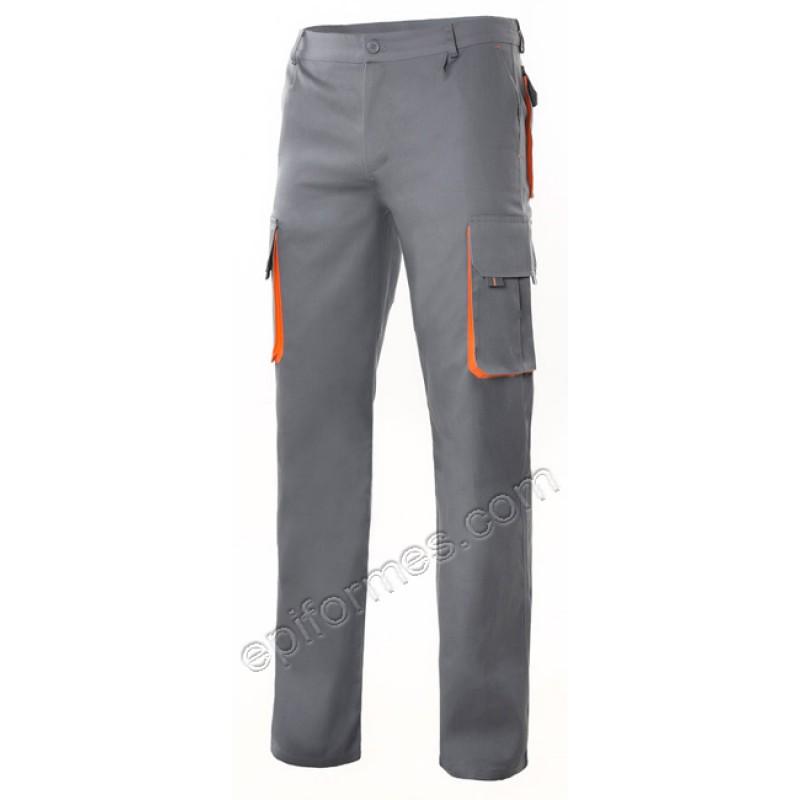 Pantalón multibolsillo bicolor