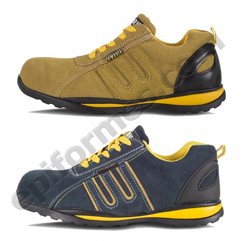 Zapato de protección serraje