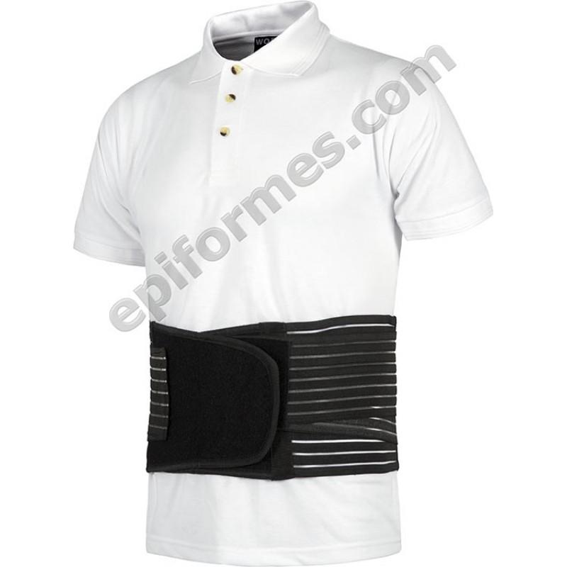 Cinturón lumbar con tensores elásticos