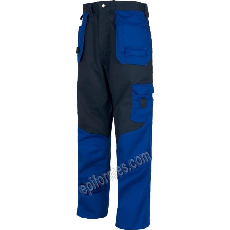 Pantalon De Trabajo Bicolor.