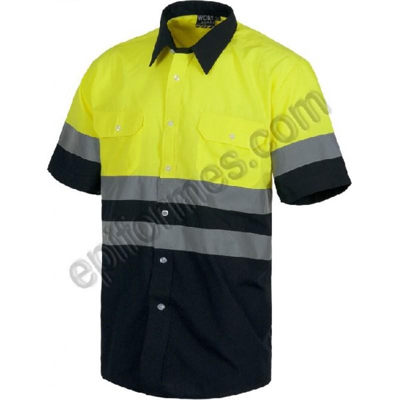 Camisa De Trabajo Manga Corta De Alta Visibilidad