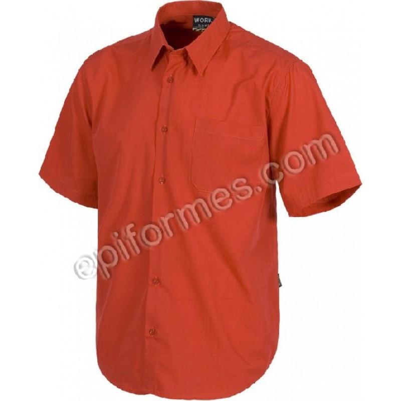 Camisas De Trabajo 9 Colores Manga Corta