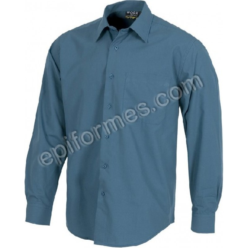 Camisas De Trabajo 10 Colores Manga Larga
