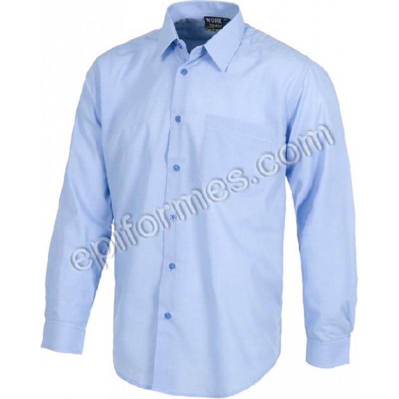 Camisas De Trabajo 11 Colores Manga Larga