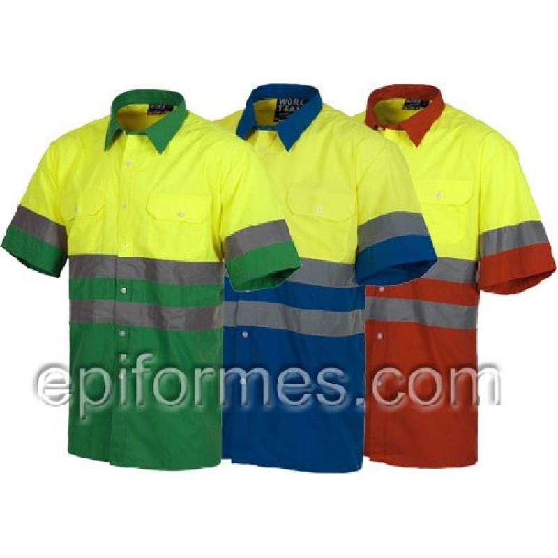 Camisa De Trabajo Manga Corta De Alta Visibilidad.