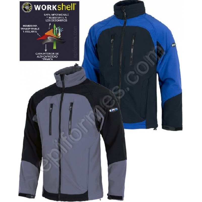 Cazadora Workshell En 2 Colores Combi