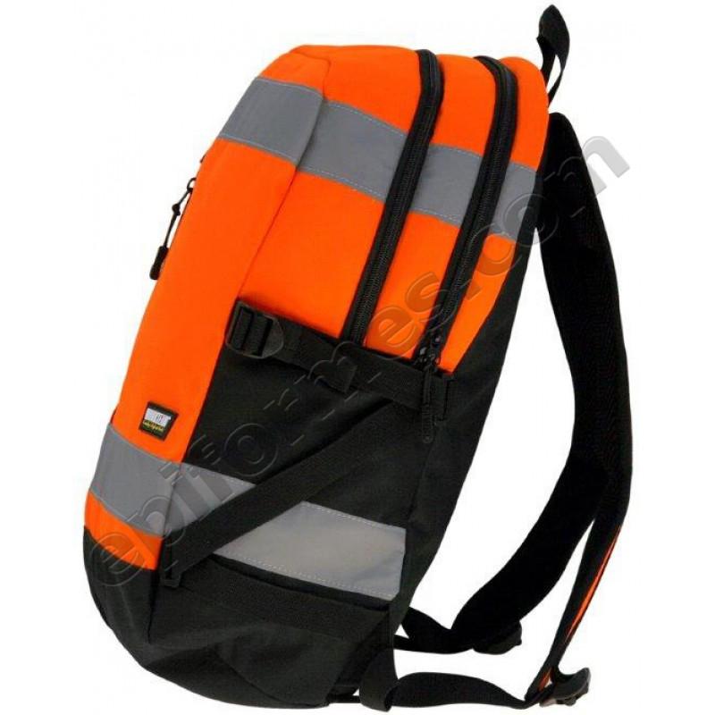 Mochila 25 litros alta visibilidad naranja