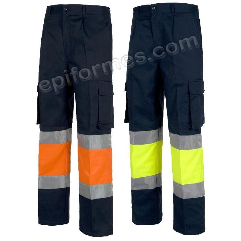 Pantalón Alta Visibilidad Combinada (100%Algodón...