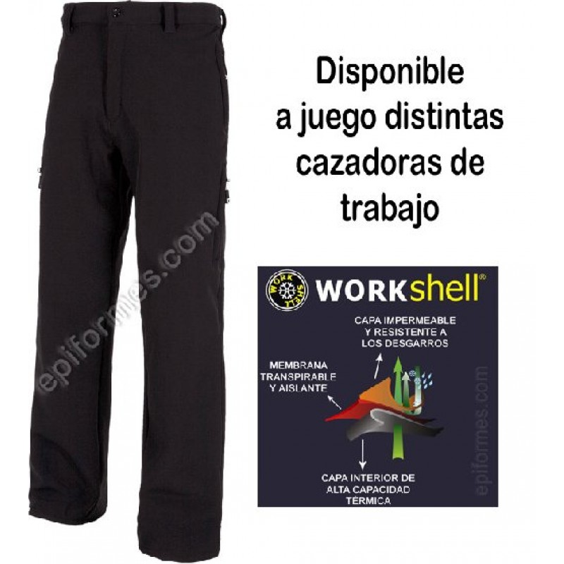 Pantalon De Trabajo Multibolsillo Workshell