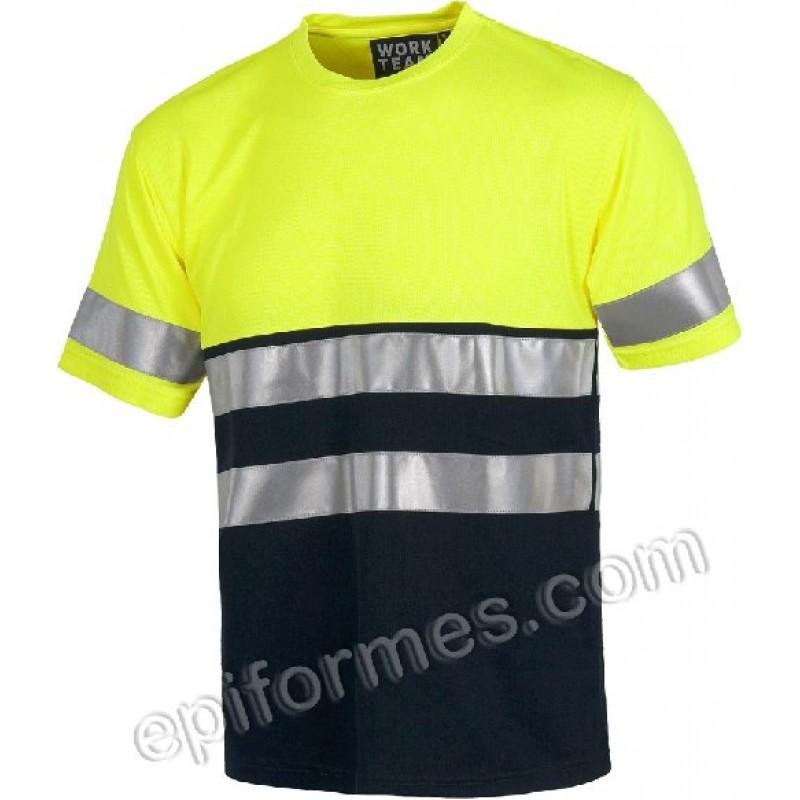Camiseta Alta Visibilidad Combinada