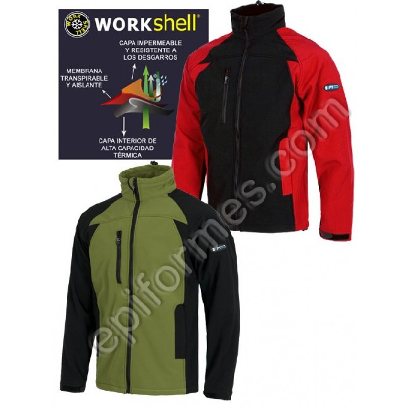 Cazadora Workshell  En 2 Colores Combi.