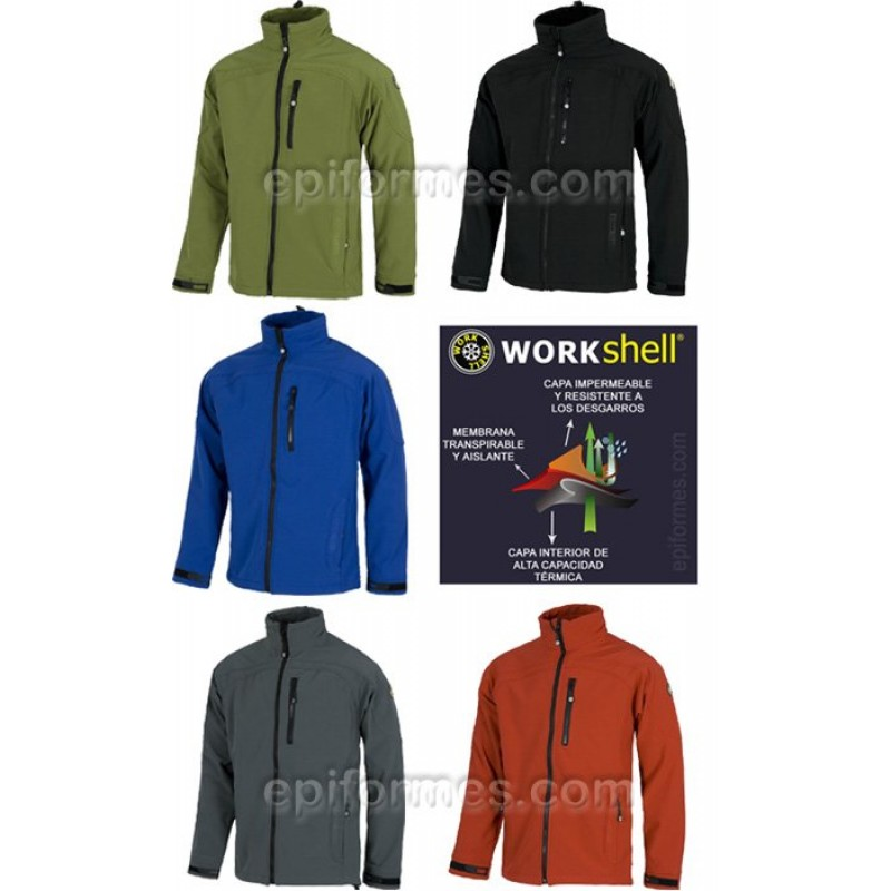 Cazadora Workshell En 5 Colores