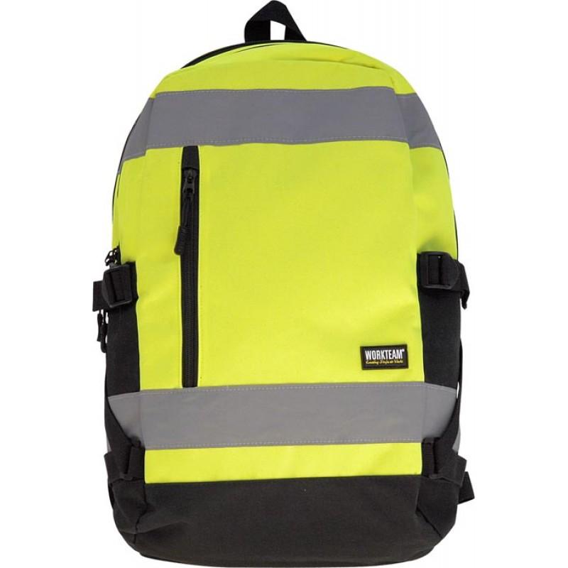 Mochila 25 litros alta visibilidad amarillo fluor