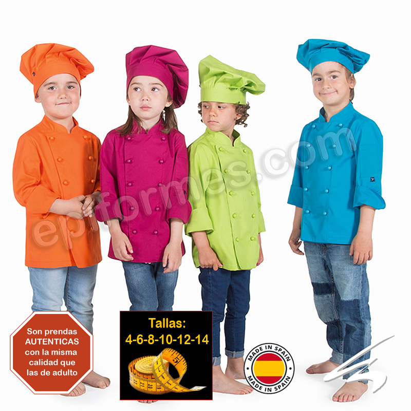 Ropa cocinero niños