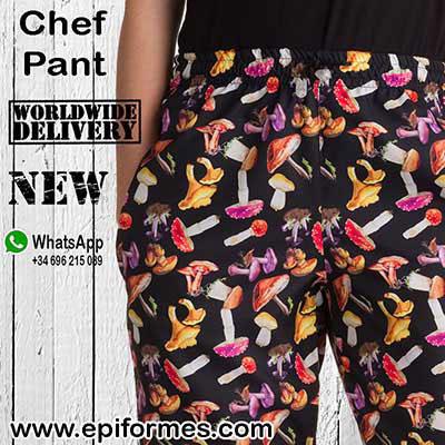 Pantalones de chef de cocina