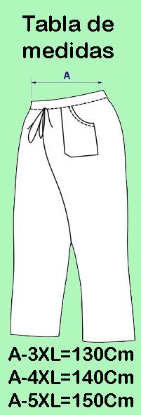 27fa42ab63b Pantalon Sanitaria Extragrande Blanca